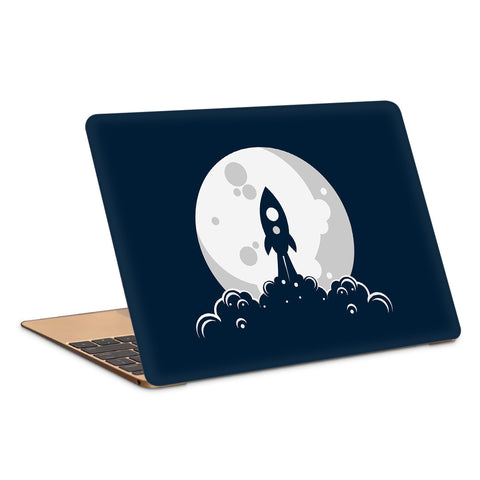 Rocket Moon Launch Artwork Laptop Skin