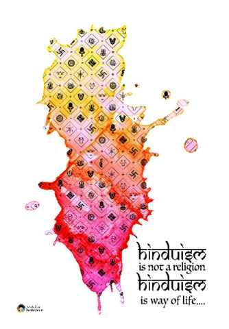 Wall Art, Hinduism is a Way of Life | Artist: Abhinand Gopal, - PosterGully