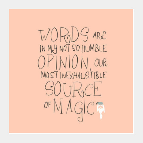 Harry Potter Quote Square Art Prints | Artist : saurabhzuve