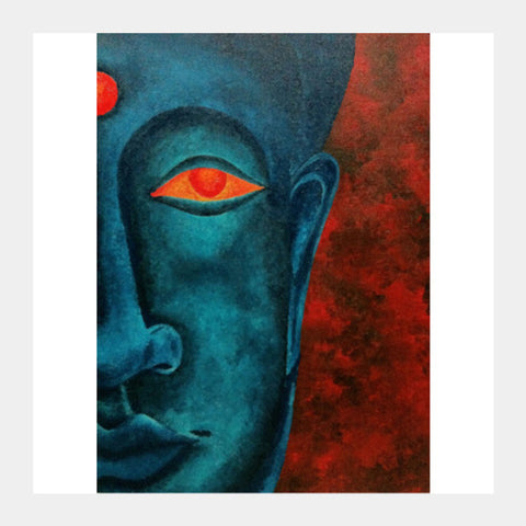 Square Art Prints, Buddha Square Art Prints | Artist : Akshaya Sawant, - PosterGully
