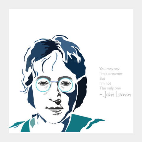 Square Art Prints, John Lennon Square Art Prints | Artist : Vasvi Mukerjee, - PosterGully