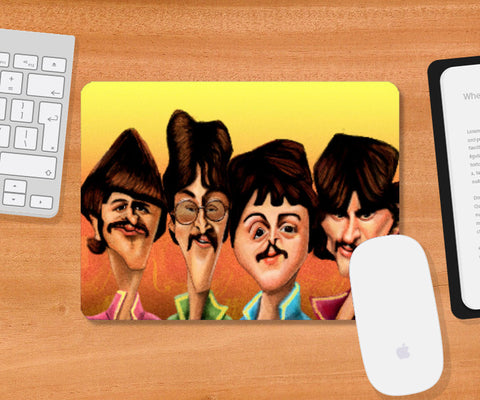 Mousepad, Caricature - The Beatles - Mousepad | Leena Swamy, - PosterGully