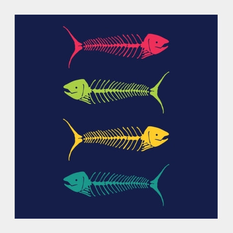 Dry Fish Square Art Prints | Artist : Tiny Dots
