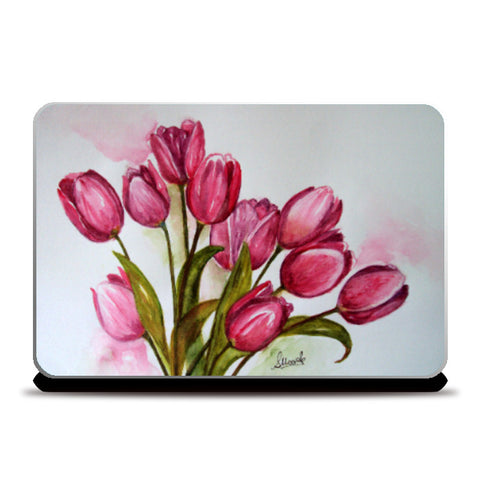 Laptop Skins, Tulips Bouquet Laptop Skin I Artist: Seema Hooda, - PosterGully