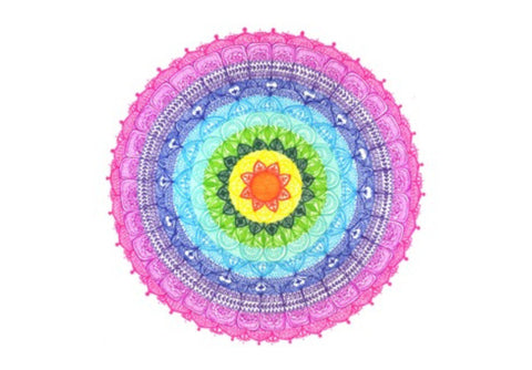 Wall Art, Rainbow Mandala Wall Art  | Artist : Suchita Pande, - PosterGully