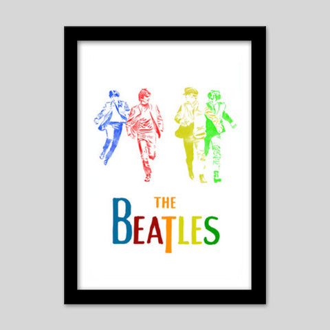 The Beatles Premium Italian Wooden Frames | Artist : Chandan Verma