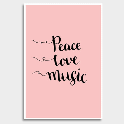 Peace Love Music Giant Poster | Artist : Inderpreet Singh