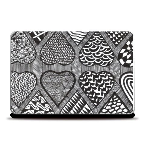 Prints in Hearts Laptop Skins | Artist : Aniket Mitra