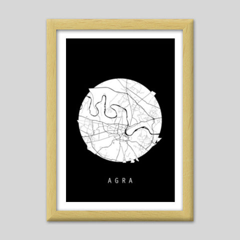 Agra map black and white india map world map minimal art poster agra map black and white india map world map minimal art gumiabroncs Image collections