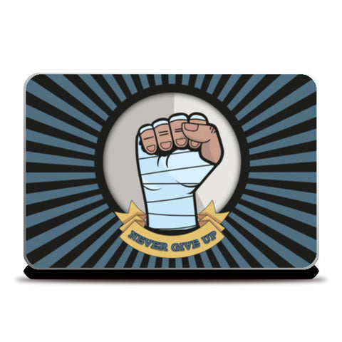 never give up Laptop Skins | Artist : Himanshu Sood