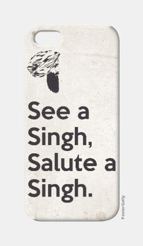 iPhone 5 Cases, See A Singh, Salute A Singh iPhone 5 Case | Rishabh Bhargava, - PosterGully