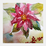 Square Art Prints, Poinsettia Square Art Print l Artist: Seema Hooda, - PosterGully