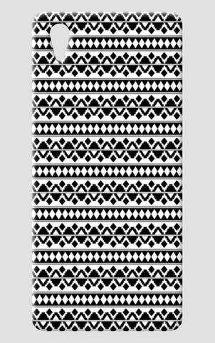 Black White Aztec Tribal Pattern One Plus X Cases | Artist : Seema Hooda