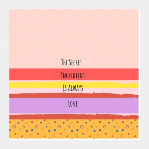 The secret Ingredient Square Art Prints | Artist : Pallavi Rawal