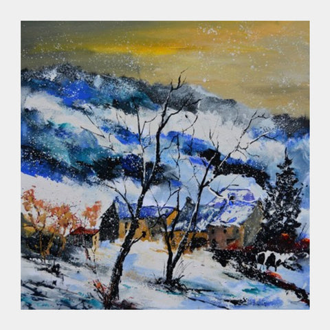 Square Art Prints, winter 7741 Square Art Prints | Artist : pol ledent, - PosterGully