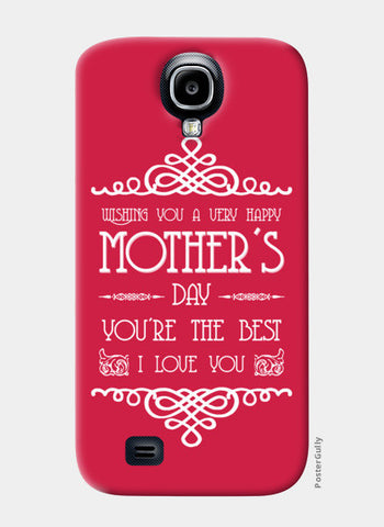 Beautiful Mother's Day Typography Samsung S4 Cases | Artist : Designerchennai
