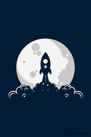 Rocket Moon Launch Artwork