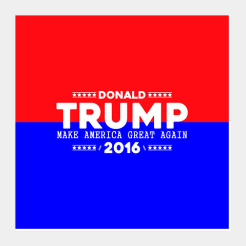 Donald Trump Square Art Prints | Artist : Designerchennai