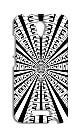 Abstract Geometric Black And White Radial Line Art Modern Design  Redmi Note 2 Cases | Artist : Seema Hooda