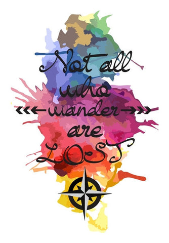 Wall Art, Not all who wander poster Wall Art | Artist : Gauri Deshpande, - PosterGully