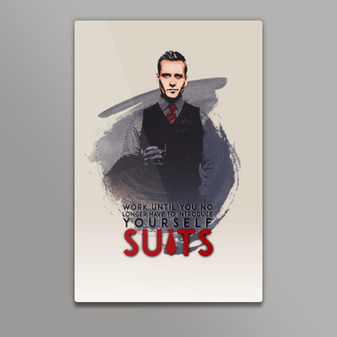Suits | Harvey Specter | Quote Metal Prints | Artist : Vivid Corner