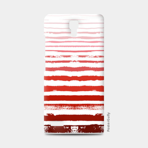 Uneven Red Stripes  Redmi Note Cases | Artist : Amantrika Saraogi