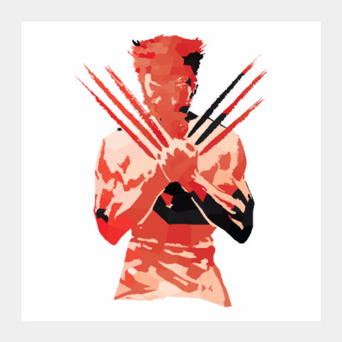 Square Art Prints, Low Poly Wolverine 2-Colored Sqaure Art Print| Artist: Darshan Gajara, - PosterGully