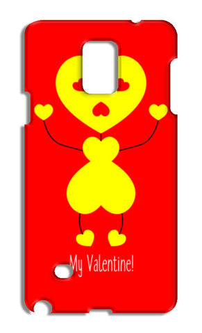 Bee My Valentine Samsung Galaxy Note 4 Cases | Artist : Designerchennai