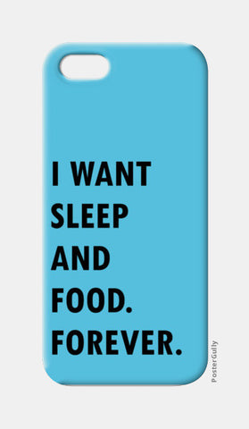 SLEEP AND FOOD. iPhone 5 Cases | Artist : Shruti aggarwal