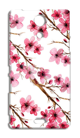 Elegant Pink Cherry Blossoms Design Floral Pattern Sony Xperia ZR Cases | Artist : Seema Hooda