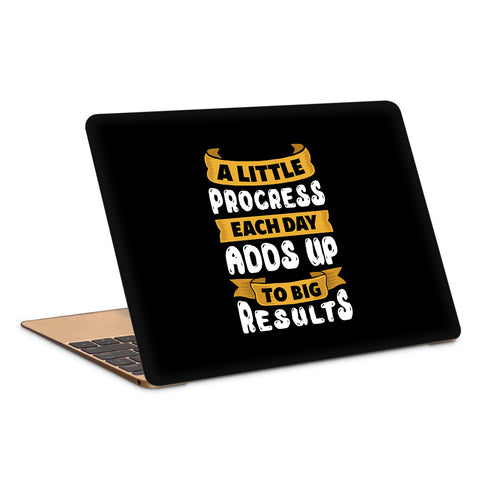 A Little Progress Each Day Adds Up To Big Results Laptop Skin