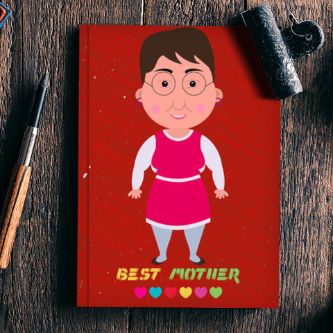 Best Mother Cartoon Notebook | Artist : Designerchennai