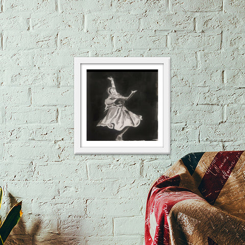 Dance is proof of Life Premium Square Italian Wooden Frames | Artist : Suchitra A D