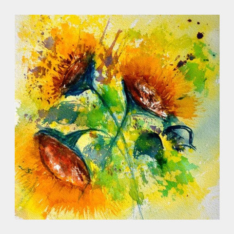 Sunflowers Square Art Prints | Artist : pol ledent