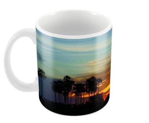 silhouette of a village  Coffee Mugs | Artist : Natraj Vemuri