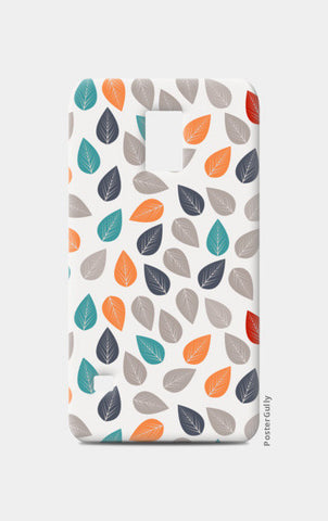 Seamless pattern with multicolored leaf on light background Samsung S5 Cases | Artist : Designerchennai
