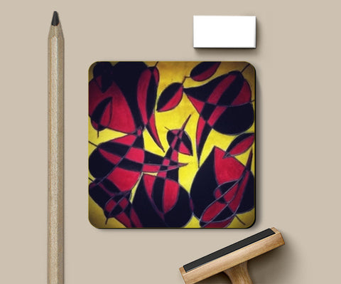 red Coasters | Artist : avanthi amarnath