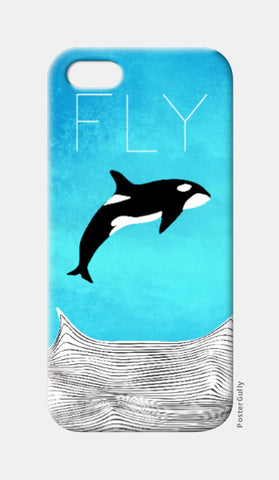 iPhone 5 Cases, Fly Away Dear Whale iPhone 5 Case | Artist: Parikshit Deshmukh, - PosterGully