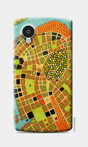 Nexus 5 Cases, imaginary map of Koblenz Nexus 5 Cases | Artist : federico cortese, - PosterGully