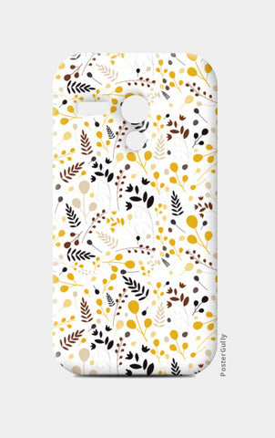 Floral seamless pattern on yellow Moto G Cases | Artist : Designerchennai