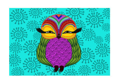 Baby Zoe the adorable baby owl Wall Art  | Artist : Animal kingdom