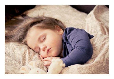 Cute Kid Sleeping  Wall Art PosterGully Specials