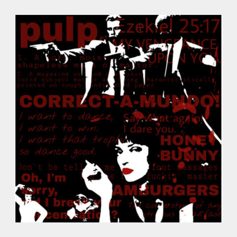 PULP FICTION Square Art Prints | Artist : SREY