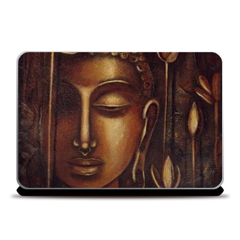 Laptop Skins, golden Buddha Laptop Skins | Artist : Raji Chacko classic paintings, - PosterGully
