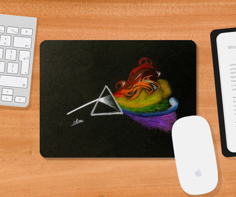 Pink Floyd Dark Side Of The Moon Mousepad | Artist : Rohan Jayant