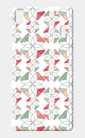 Flowers Retro Shapes Geometric Pattern Lenovo A7000 Cases | Artist : Designerchennai
