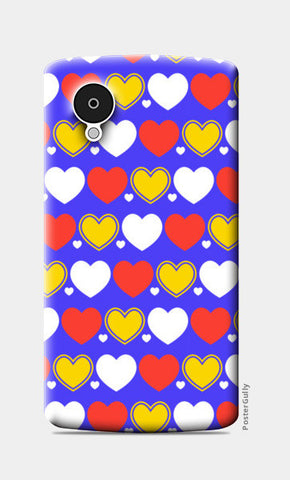 Hearts seamless multicolor pattern Nexus 5 Cases | Artist : Designerchennai