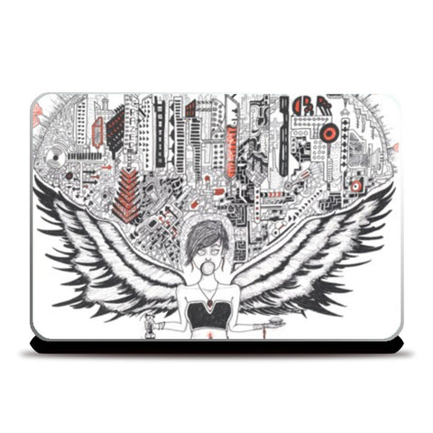 Laptop Skins, Urbanite Angel Laptop Skins | Artist : Val-i-llustration, - PosterGully