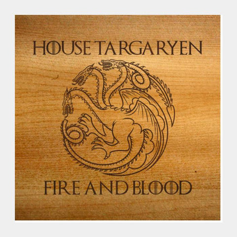 PosterGully Specials, Game of Thrones | House Targaryen Square Art Prints | Artist : Dhruv Khandelwal, - PosterGully