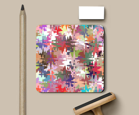 Colorful Chaos Abstract Art Pattern Coasters | Artist : Seema Hooda